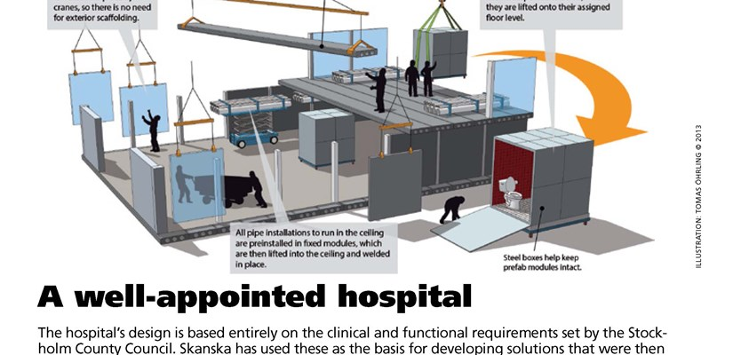A well appointed hospital