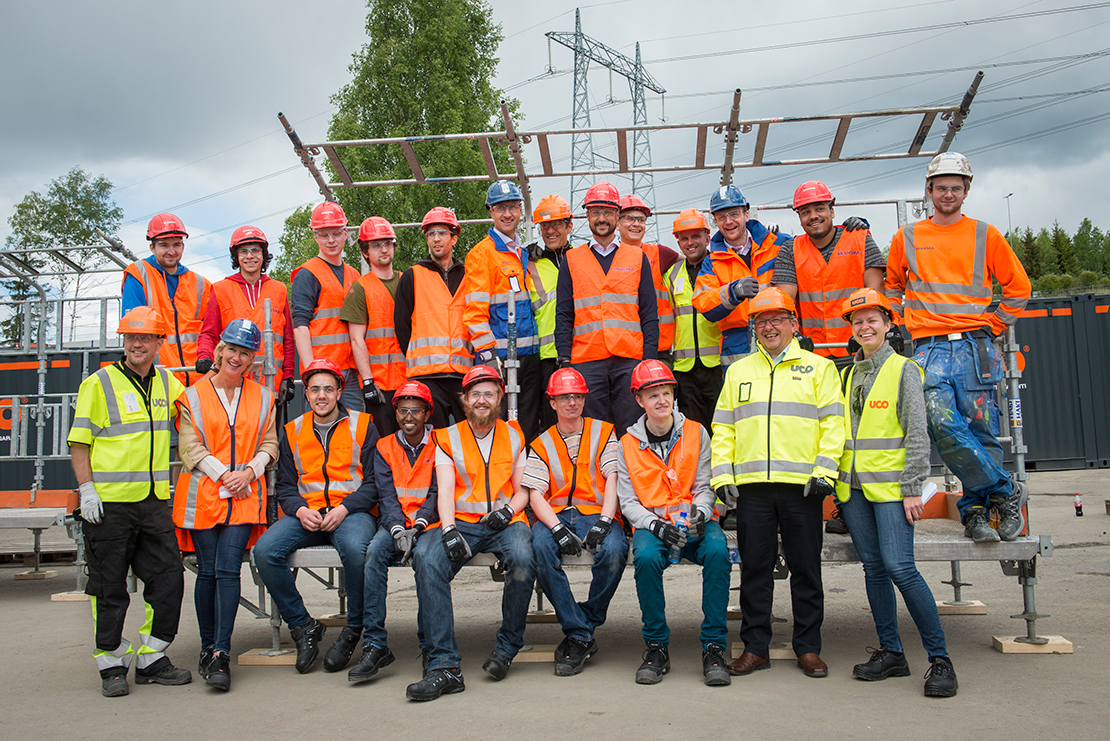 Group image construction site, Norway