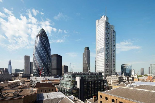 Gherkin Heron tower London skyline UK