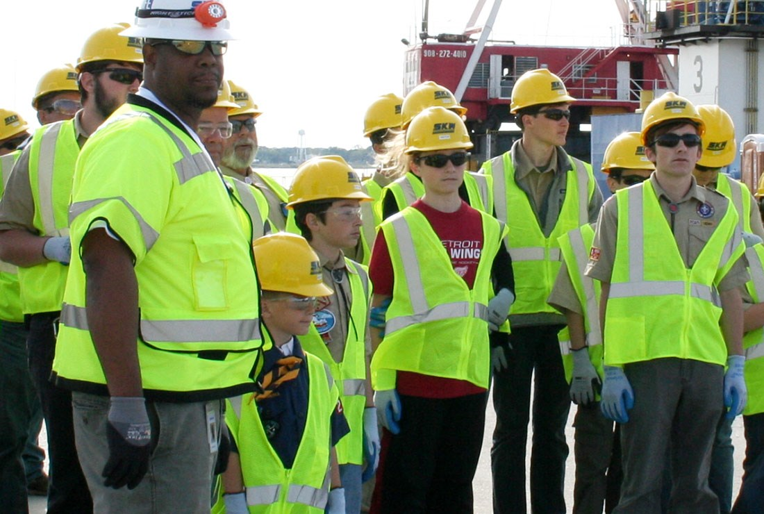 "The Scouting the Midtown Tunnel event brought more than 100 local Cub and Boy Scouts to the tunnel to introduce them to civil engineering and construction management, and to help them earn their engineering merit badge. ""We have to be good neighbors,"" Wade says."