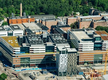 Nya Karolinska Solna, seen from above in June 2017