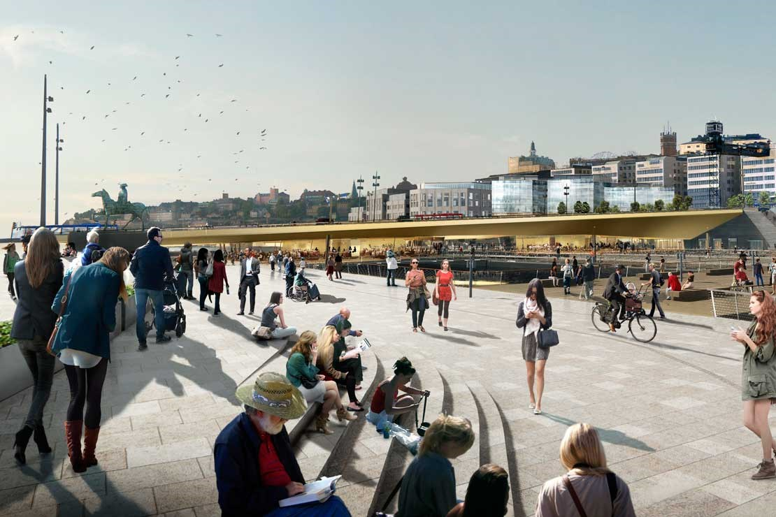 Slussen project progress, October 2016