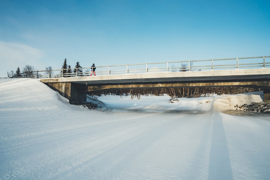 One of the Skanska-built bridges along Flatruet Road in Sweden.