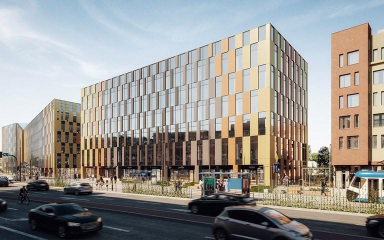 Skanska investerar EUR 28 M, cirka 300 miljoner kronor, i en ny kontorsbyggnad i Krakow, Polen