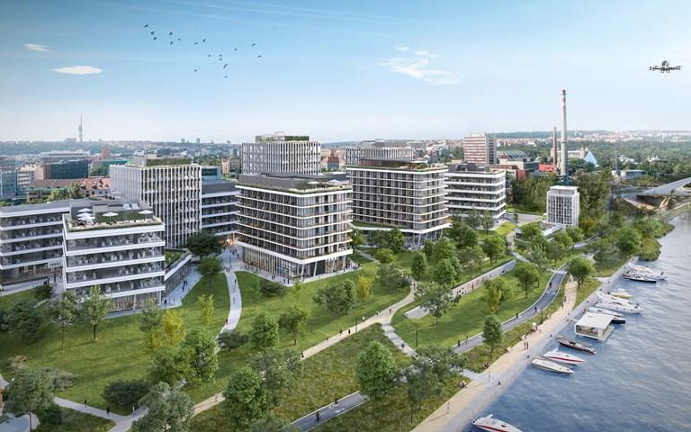 Skanska investerar EUR 76M, cirka 770 miljoner kronor, i en ny kontorsbyggnad i Prag, Tjeckien