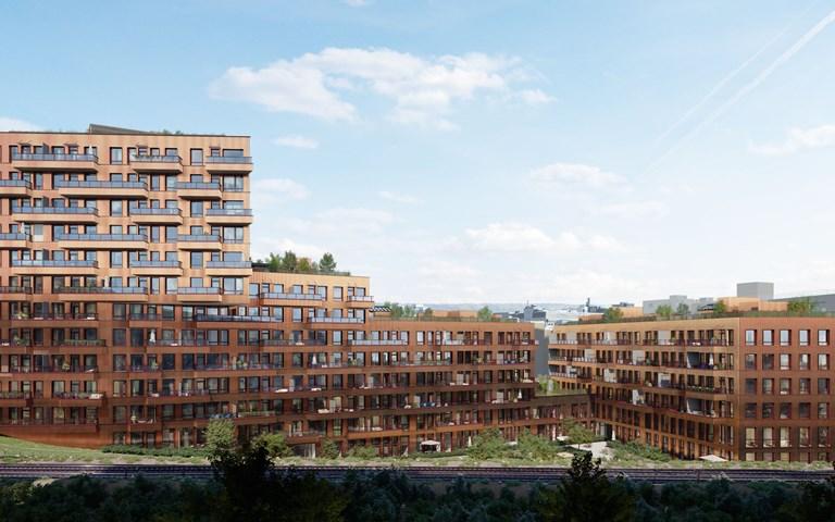 Skanska investerar NOK 470 M, cirka 500 miljoner kronor, i den sjätte etappen av bostadsprojektet Ensjø Torg i Oslo, Norge