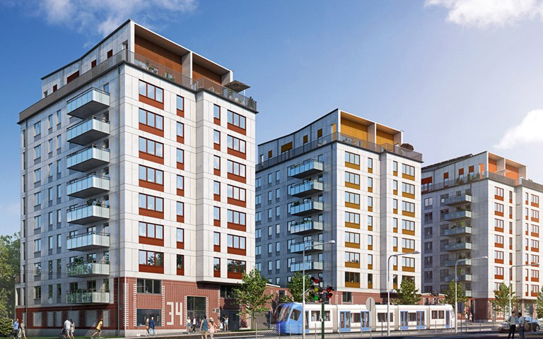 Skanska invests about SEK 450M in a new residential development project in Stockholm, Sweden