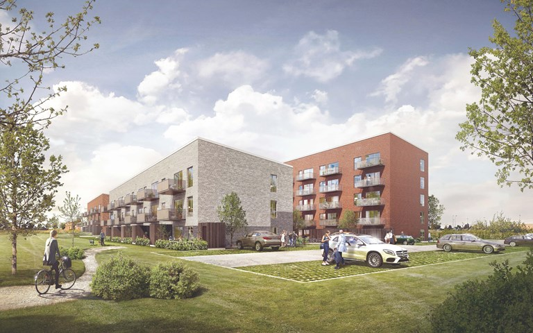 Skanska invests DKK 160 M, about SEK 230 M, in a residential project in Hillerød, Denmark