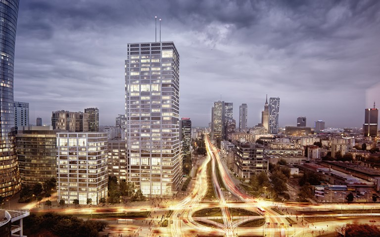 Skanska invests EUR 170 M, about SEK 1.8 billion, in third phase of an office project in Warsaw, Poland