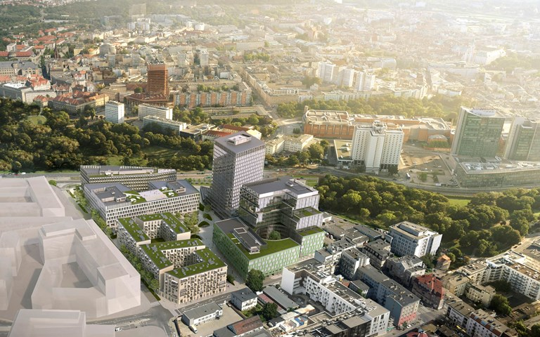 Skanska invests EUR 65 M, about SEK 680 M, in the third office building in a mixed-use project in Poznan, Poland