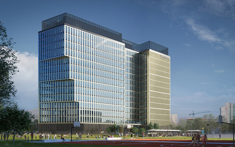 Skanska invests EUR 76 M, about SEK 780 M, in a new office building in Warsaw, Poland