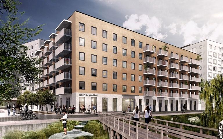 Skanska säljer bostadskvarter i Barkarbystaden, Järfälla, för cirka 720 miljoner kronor