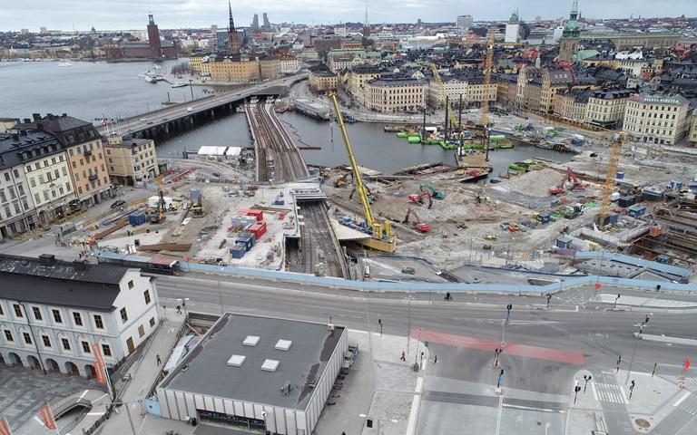 Skanska utför kvarstående och tillkommande arbeten vid Slussen till ett tillkommande värde om cirka 1,5 miljarder kronor
