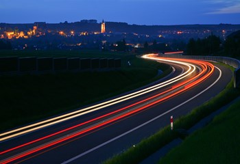 Biecz bypass by night