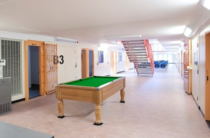 Prisoner facilities in HMP Thameside are modern and functional