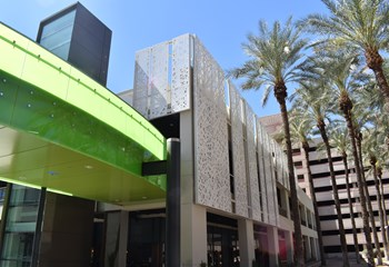The Arizona Center, located in downtown Phoenix, wanted to transform their current, introverted design to integrate this retail and entertainment destination with the surrounding neighborhood. Skanska performed renovations on the 16-acre site to rebrand the campus and create a vibrant sense of place.
