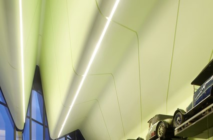 The high-quality interior finish in the Riverside Museum enhances the experience for visitors