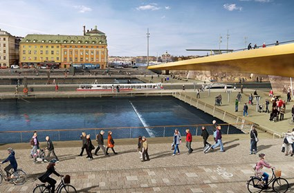 Panorama view: View of the terraces on Södermalm (source: Foster+Partners 2014)