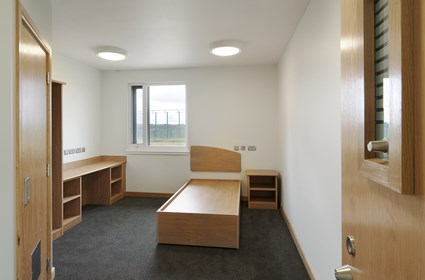 Residents' rooms at The State Hospital are light and spacious