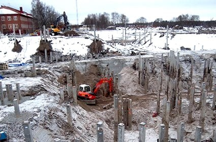 We used some 2,500 concrete piles in the piling work.