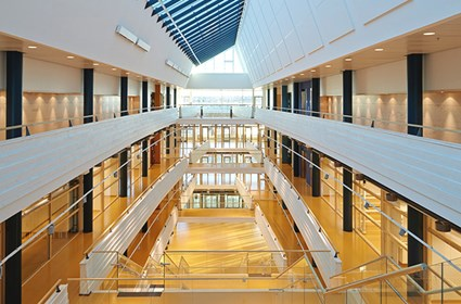 The most eye-catching building is the educational section, consisting of four floors and a basement.